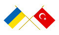 Flags of Ukraine and Turkey, 3d Render, Isolated on White - PhotoDune Item for Sale