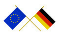 Flags of Germany and European Union, 3d Render, Isolated on White - PhotoDune Item for Sale