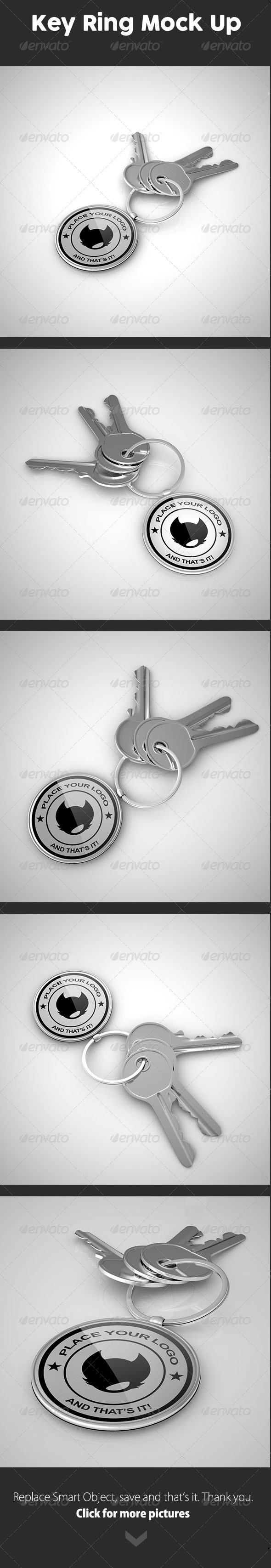 GraphicRiver Key Ring Mock Up 8353323