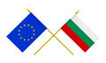 Flags of Bulgaria and European Union, 3d Render, Isolated on White - PhotoDune Item for Sale