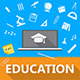 Flat Illustration of Education - GraphicRiver Item for Sale
