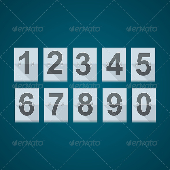 GraphicRiver Set of Numbers for Mechanical Scoreboard 8353626