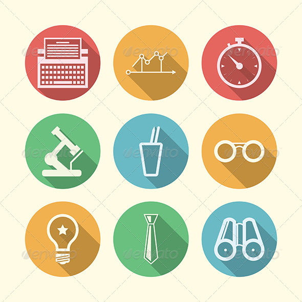 GraphicRiver Vector Icons for Freelance and Business 8353647