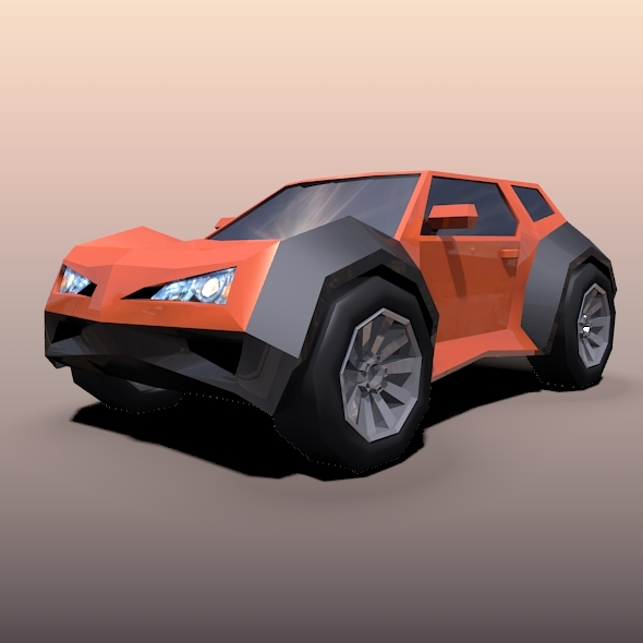 Lowpoly crossover concept vehicle