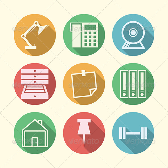 GraphicRiver Vector Icons for Freelance and Business 8353670