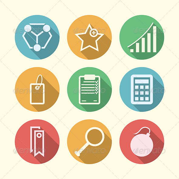 GraphicRiver Vector Icons for Freelance and Business 8353688