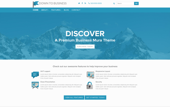 Down to Business - Premium Mura CMS Theme - Mura CMS Themes