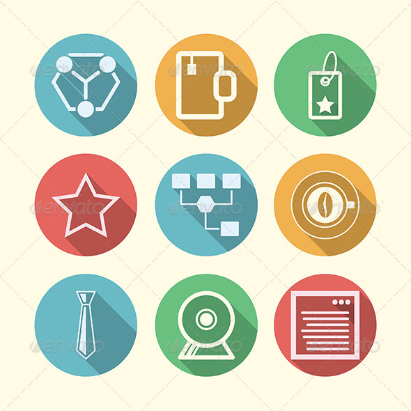 GraphicRiver Vector Icons for Freelance and Business 8353695