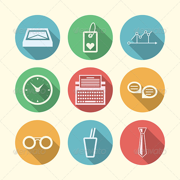 GraphicRiver Vector Icons for Freelance and Business 8353699