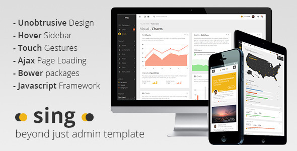 ThemeForest Sing App Responsive Dashboard Template 8353708