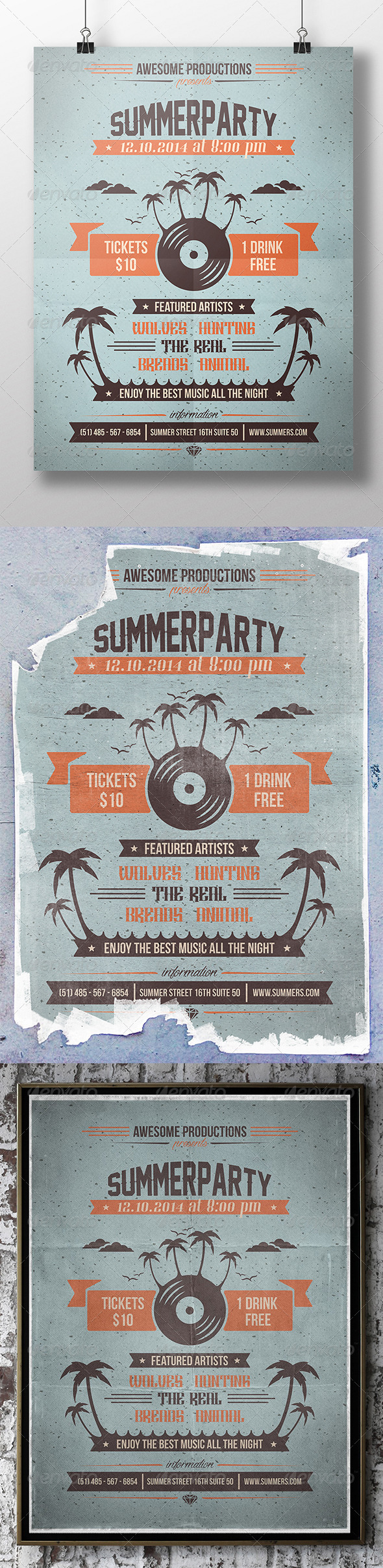 GraphicRiver Summer Party Flyer 8353726