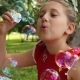 Little Girl Playing With Bubbles 3 - VideoHive Item for Sale