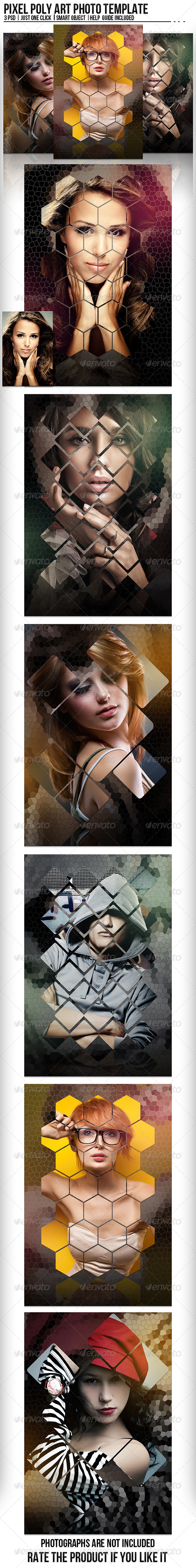 GraphicRiver Pixel Poly Art Photo Template 8353782