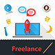 Vector Flat Icons for Freelance or Business - GraphicRiver Item for Sale