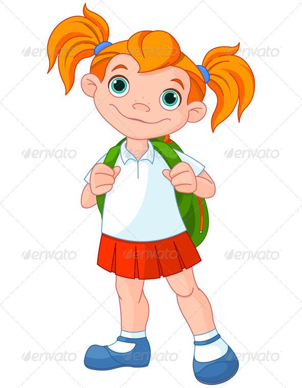 GraphicRiver Schoolgirl 8354092
