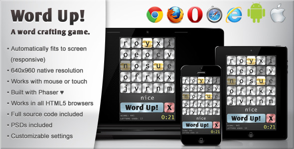 Word Up! - HTML5 Word Game