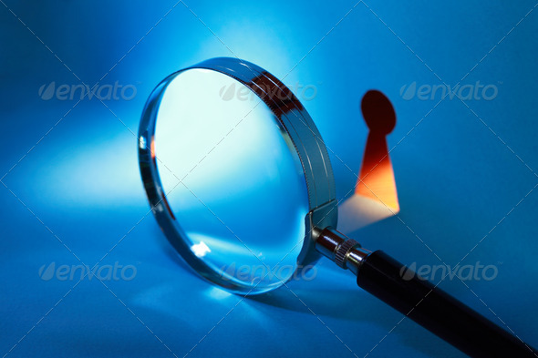 PhotoDune Magnifying Glass And Keyhole 847346