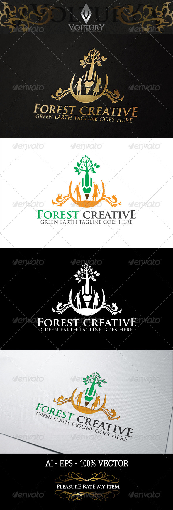 GraphicRiver Forest Creative Logo 8354175