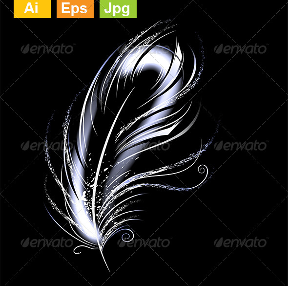 GraphicRiver Luminous Feather 8354176