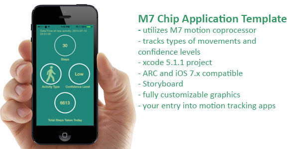 CodeCanyon Apple M7 Motion Coprocessor App Template 8259668
