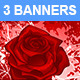 Banners with Red Roses - GraphicRiver Item for Sale