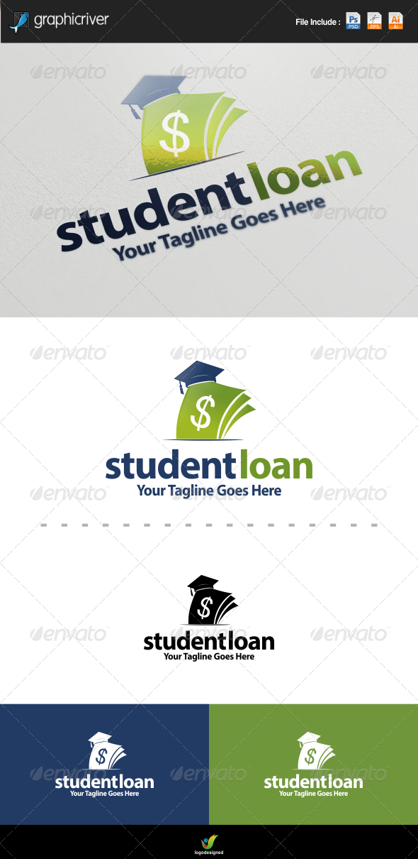 GraphicRiver Student Loans Logo 8338501