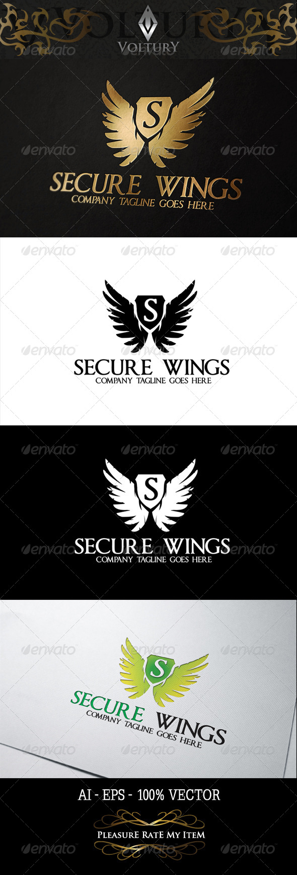 GraphicRiver Secure Wings Logo 8354211