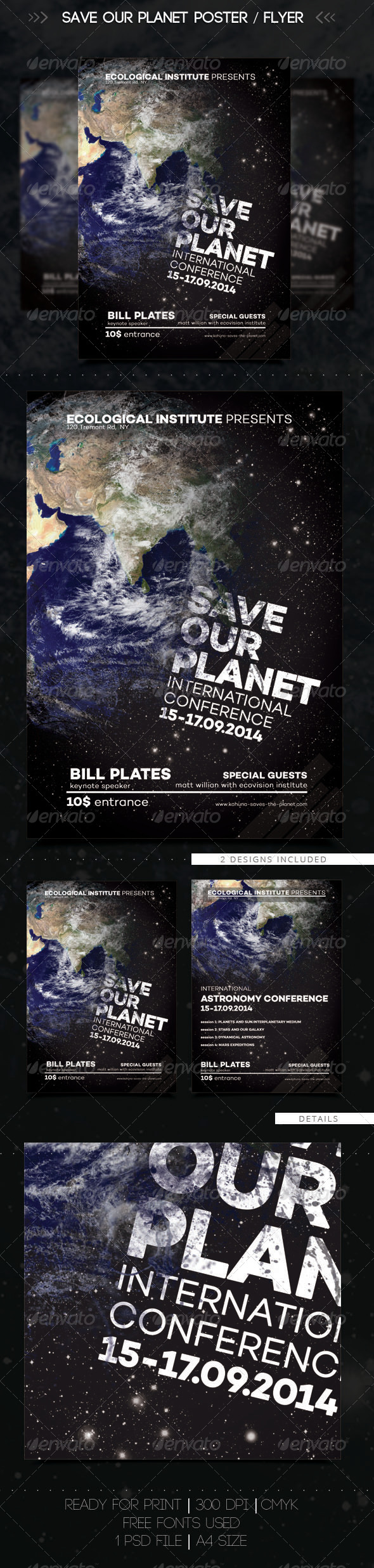 Save The Planet Flyer / Poster - Miscellaneous Events