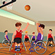 Men in Wheelchairs Playing Basketball - GraphicRiver Item for Sale