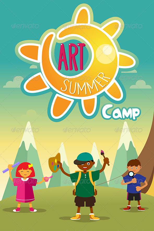 GraphicRiver Art Summer Camp Poster 8354269