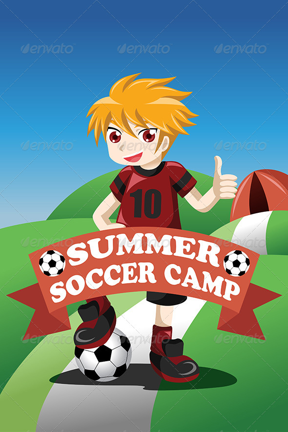 GraphicRiver Soccer Summer Camp Poster 8354299