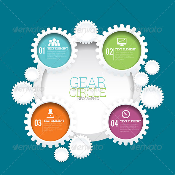 GraphicRiver Gear Circle Infographic 8354328