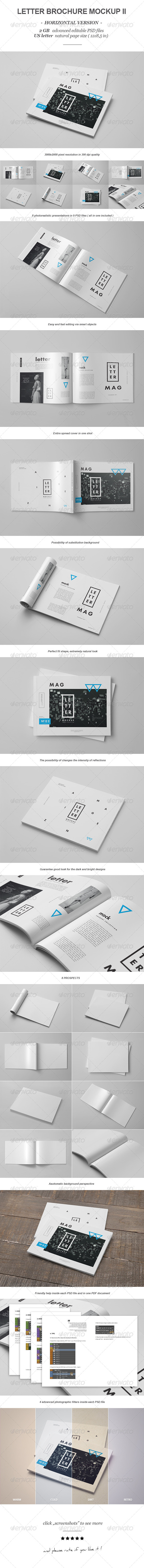 GraphicRiver Horizontal Letter Magazine Brochure Mock-up 2 8354340