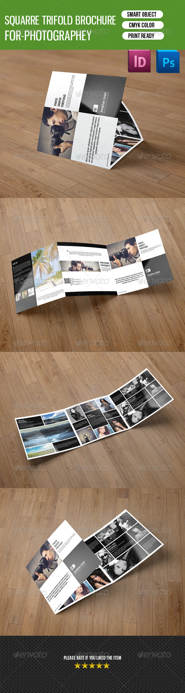 GraphicRiver Square Trifold Photography Brochure-V18 8354349