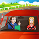 Teenager in a Road Driving Test - GraphicRiver Item for Sale
