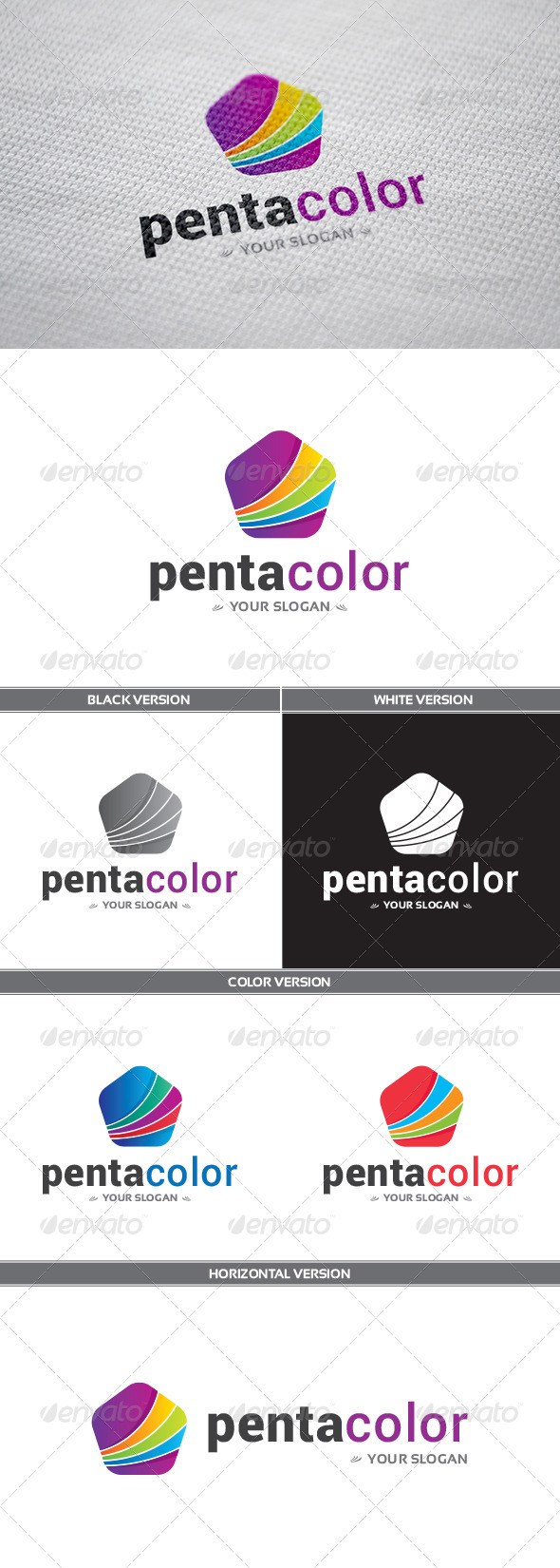 GraphicRiver PentaColor Logo 8356181