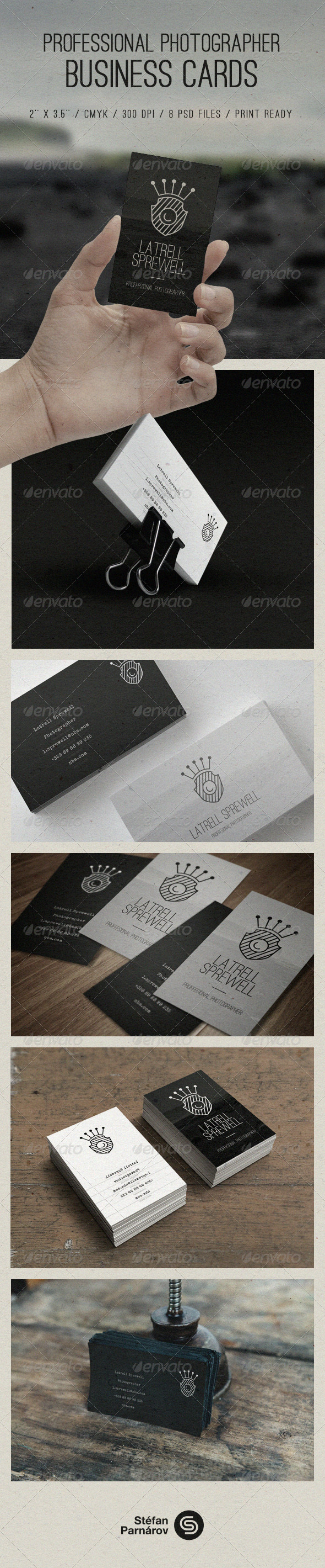 GraphicRiver Photographer Business Cards 8348478