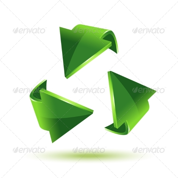 GraphicRiver Green Recycling Arrows 8356678