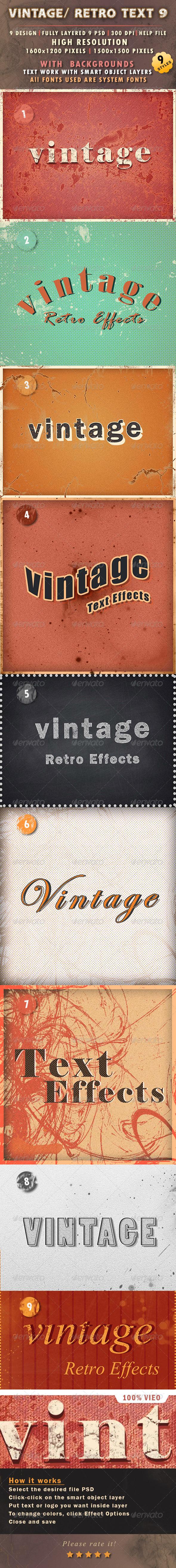 GraphicRiver Vintage Retro Text 9 8294301