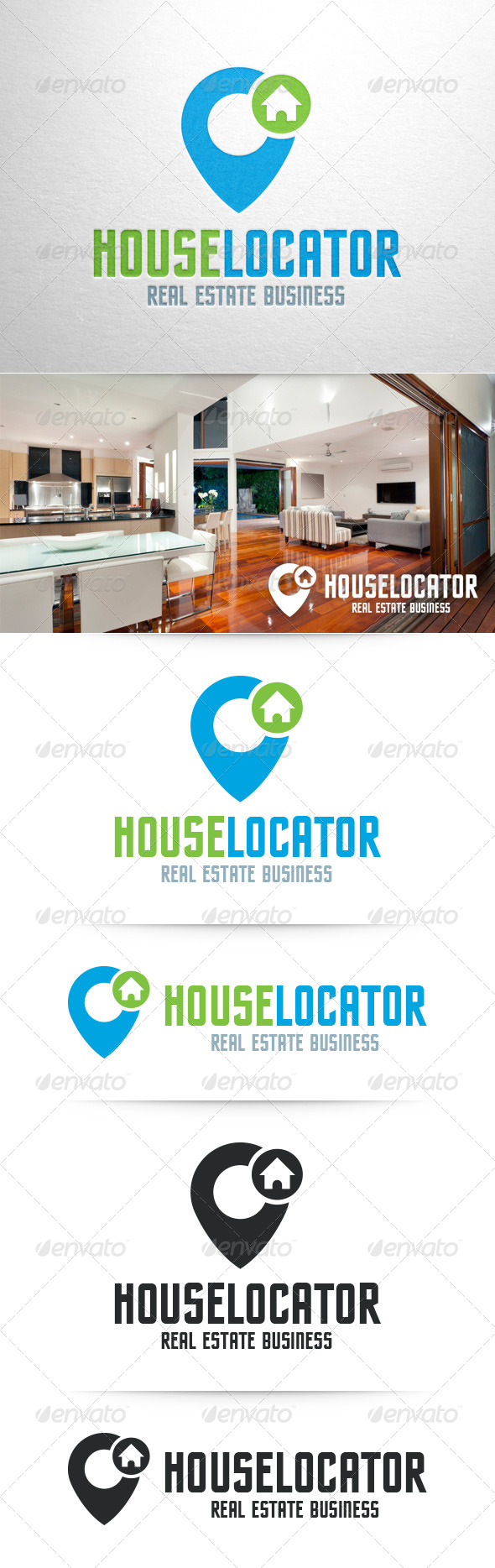 GraphicRiver House Locator Logo Template 8357534