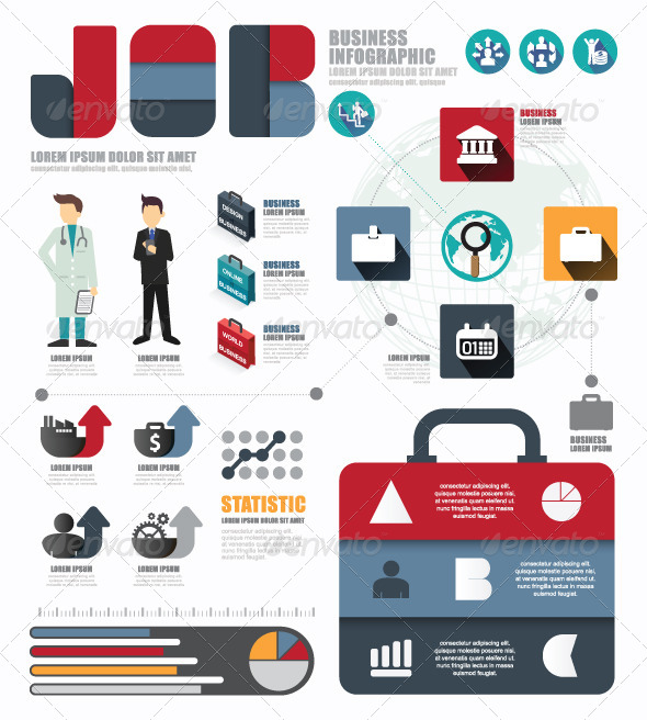 GraphicRiver Infographic Business World Job Template 8357670