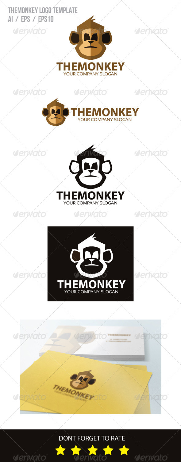 GraphicRiver The Monkey Logo Template 8357682