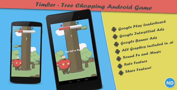 CodeCanyon Timber Tree Chopping Android Arcade Game 8357835