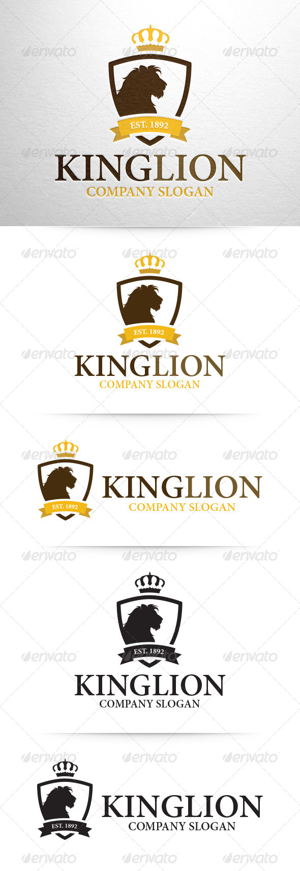GraphicRiver King Lion Logo Template 8358041