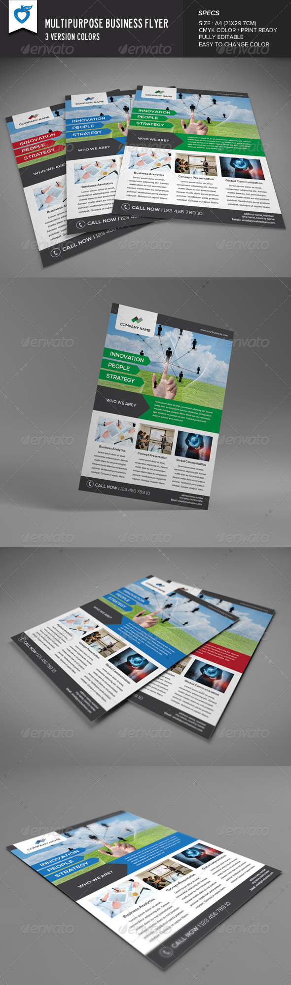 GraphicRiver Multipurpose Business Flyer v8 8358063