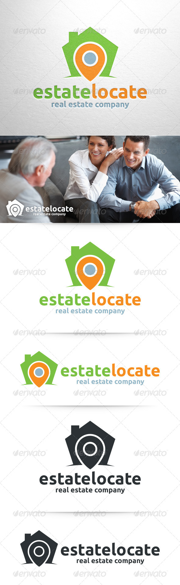 GraphicRiver Estate Locate Logo Template 8358067