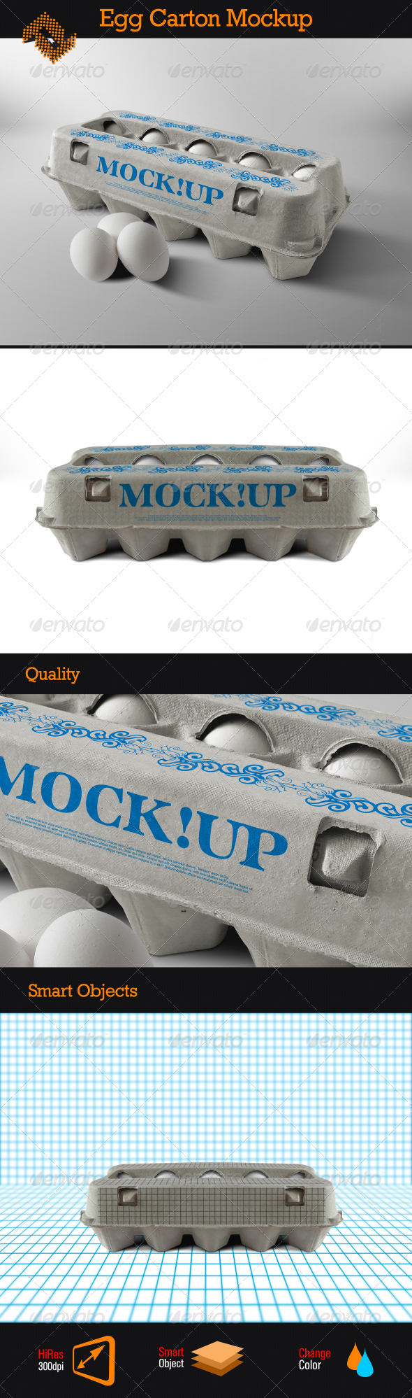 GraphicRiver Egg Carton Mockup 8346535