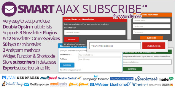 Smart AJAX Subscribe - CodeCanyon Item for Sale
