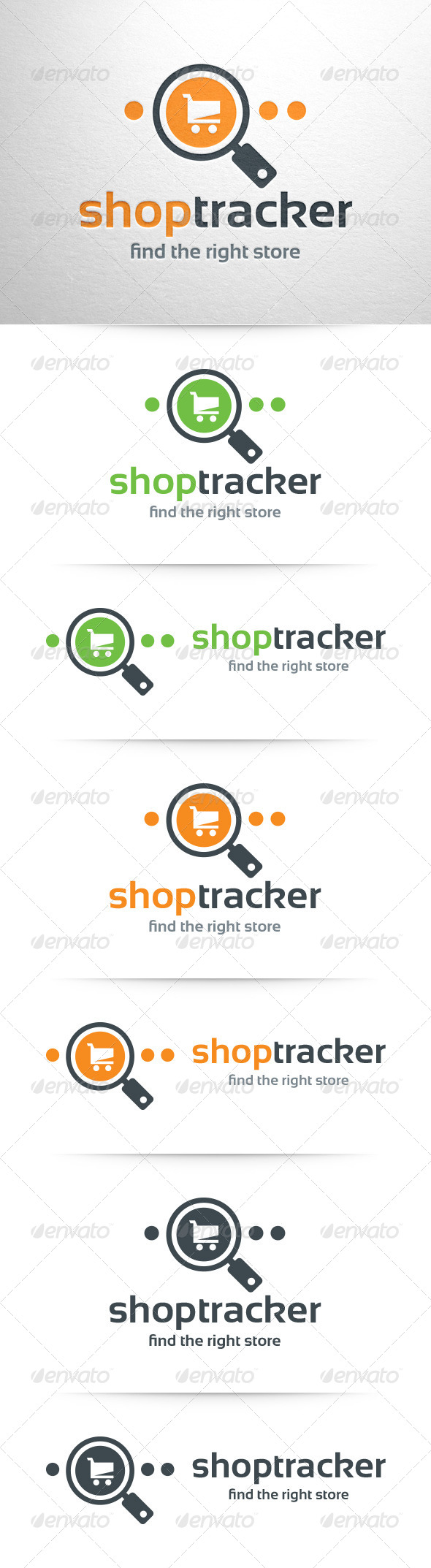GraphicRiver Shop Tracker Logo Template 8358366