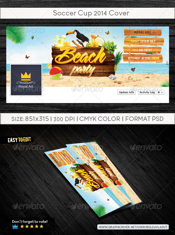 GraphicRiver Summer Beach Party Cover 8359182